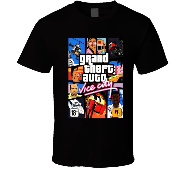 grand theft auto vice city games t shirt