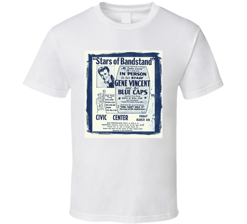 Gene Vincent Be-Bop-A-Lula  t shirt