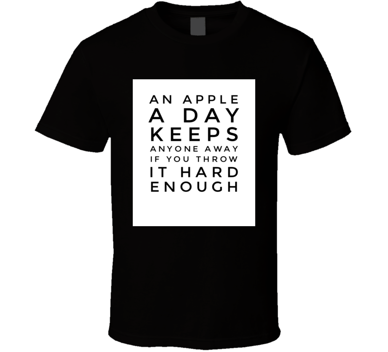 apple a day doctor funny cool boyfriend girlfriend t-shirt
