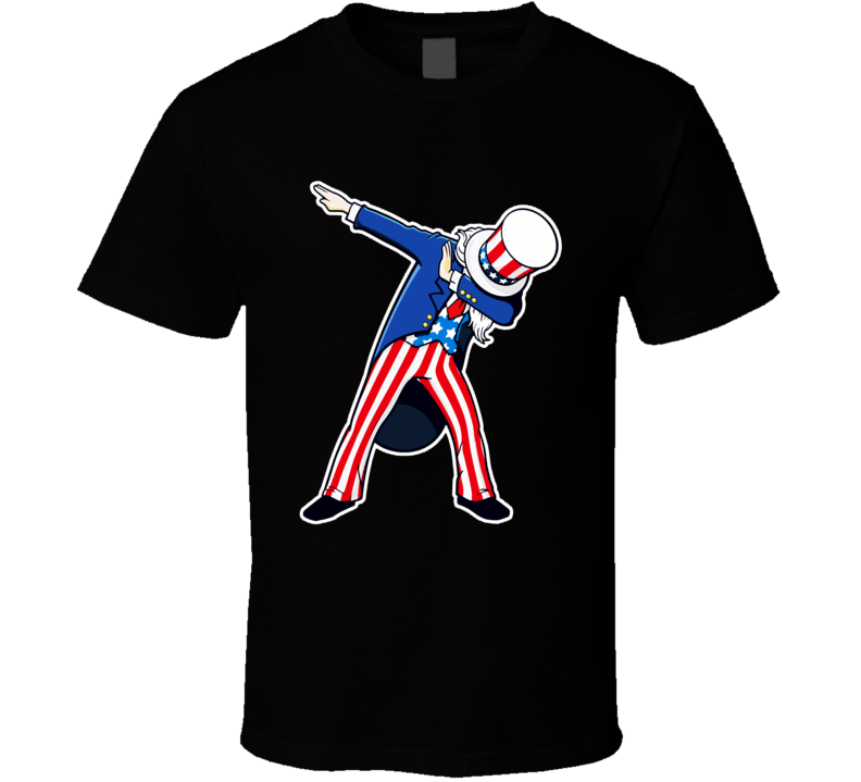 Funny Dabbing Shirt Patriotic Sam United States Of America T Shirt