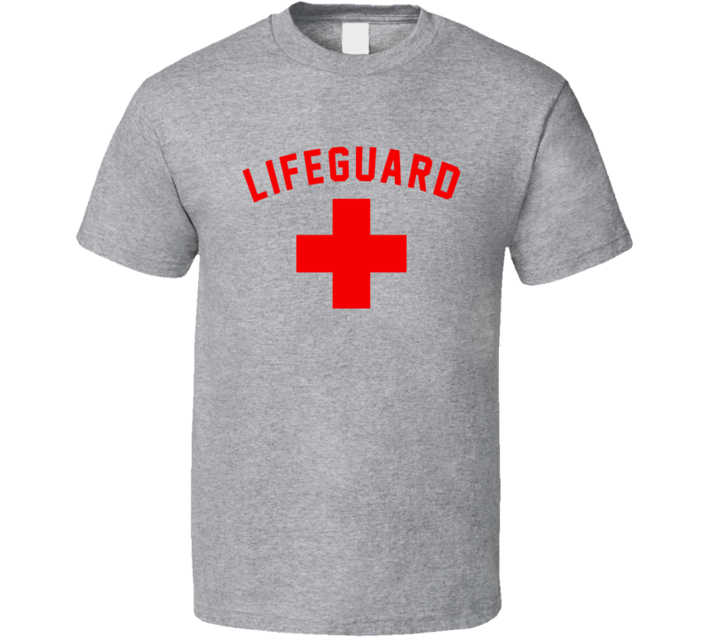 Lifeguard Red & White Certified Swimming Pool T Shirt