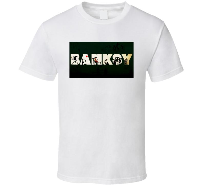 Banksy Graffiti Arts Wallpaper T Shirt