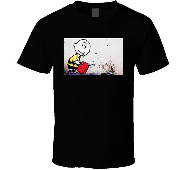 Banksy Snoopy Cartoon T Shirt
