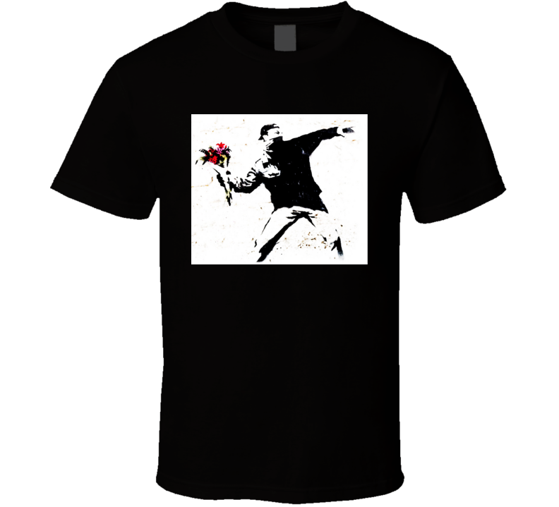 Banksy Graffiti Flower Thrower T Shirt