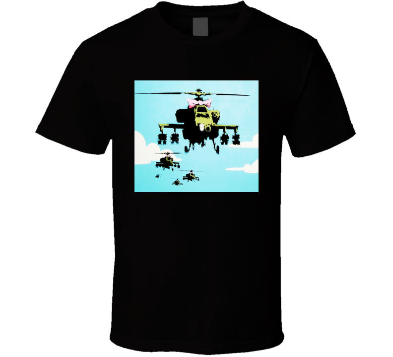Banksy Helicopter Soldier T Shirt