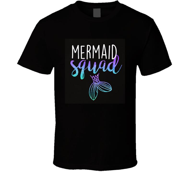 Mermaid Squad Mermaid Birthday Party Shirt