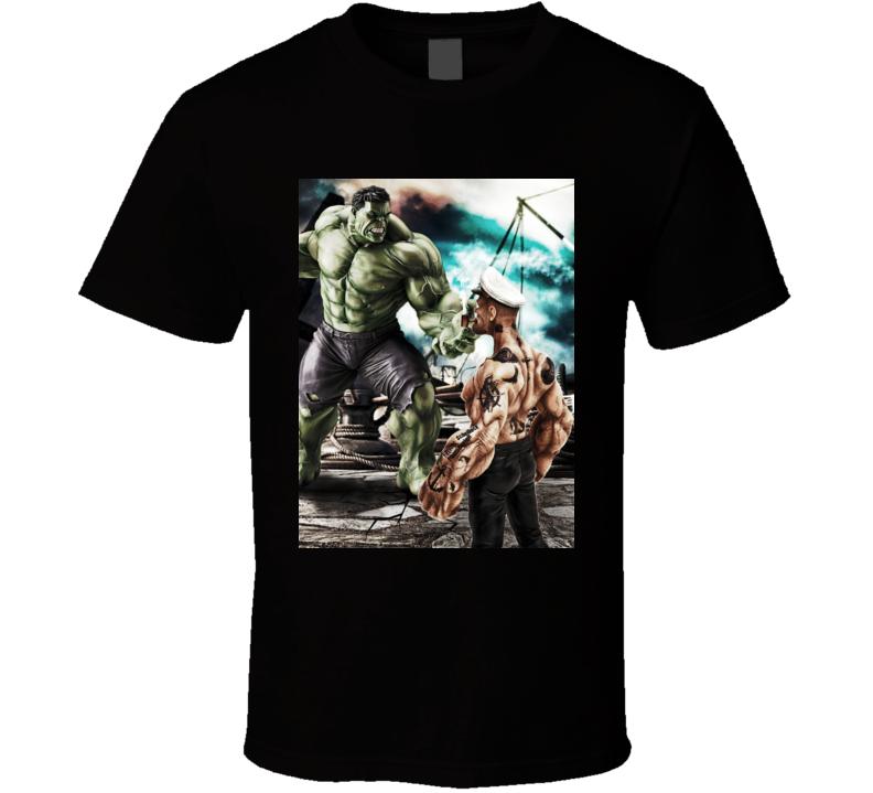 Hulk Vs Popeye T Shirt