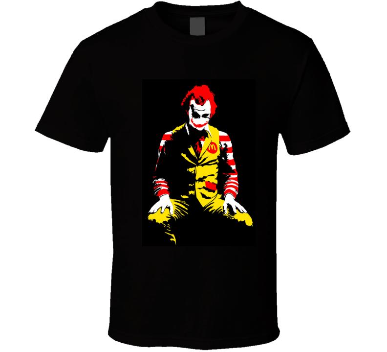 Ronald Mcdonald Joker Parody Halloween T Shirt