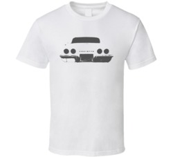 1969 Corvette Rear Veiw Faded Look Light T Shirt