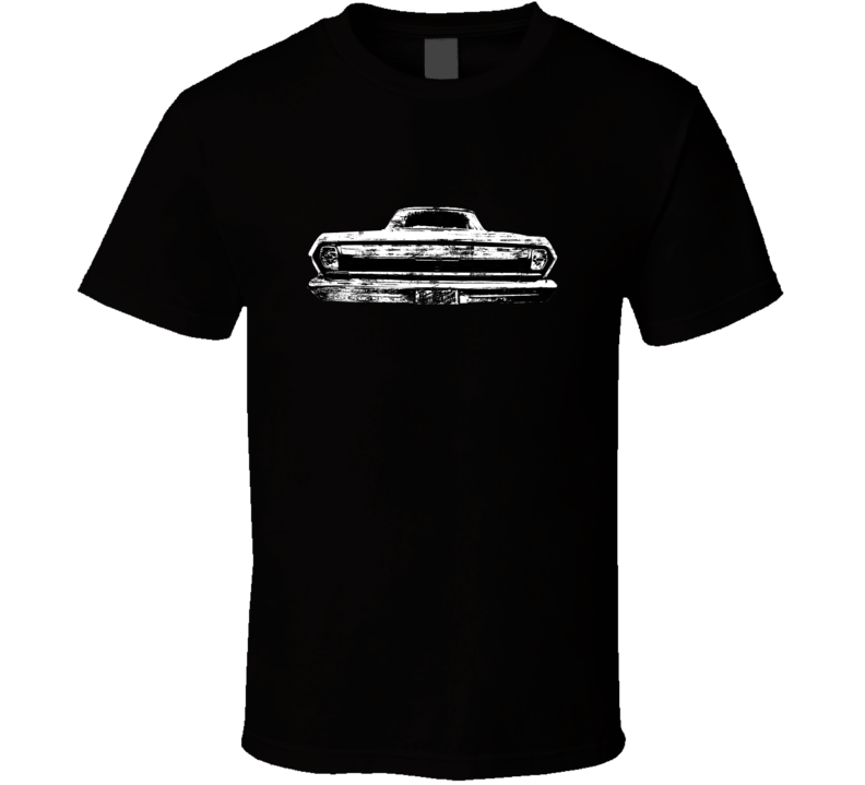 63 Chevy Nova Back View Distressed Black T Shirt
