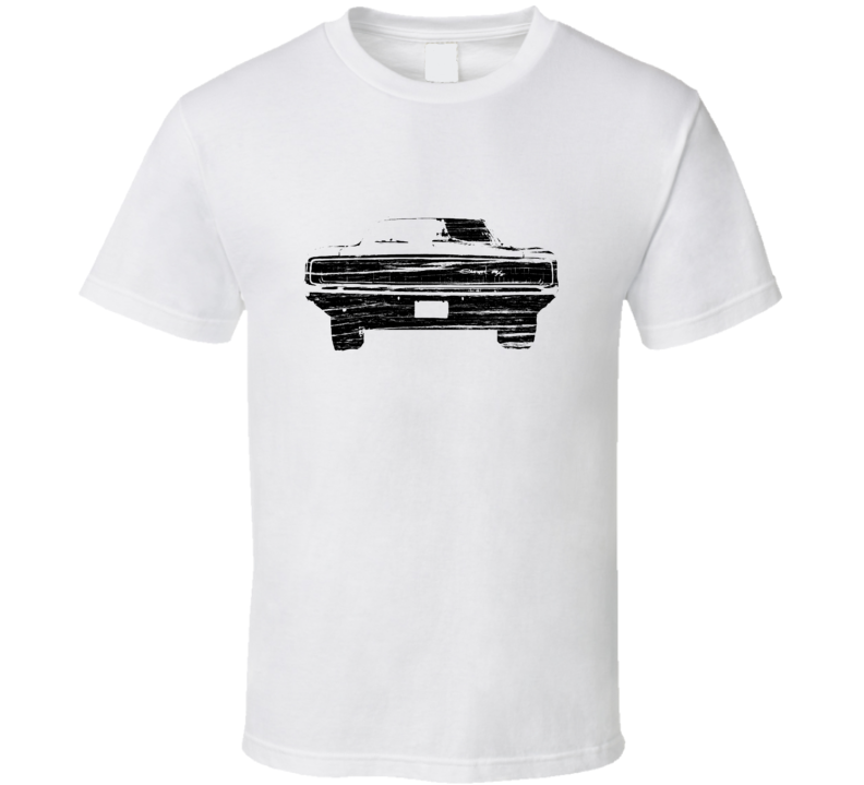 1968 Dodge Charger R/T Distressed White T Shirt
