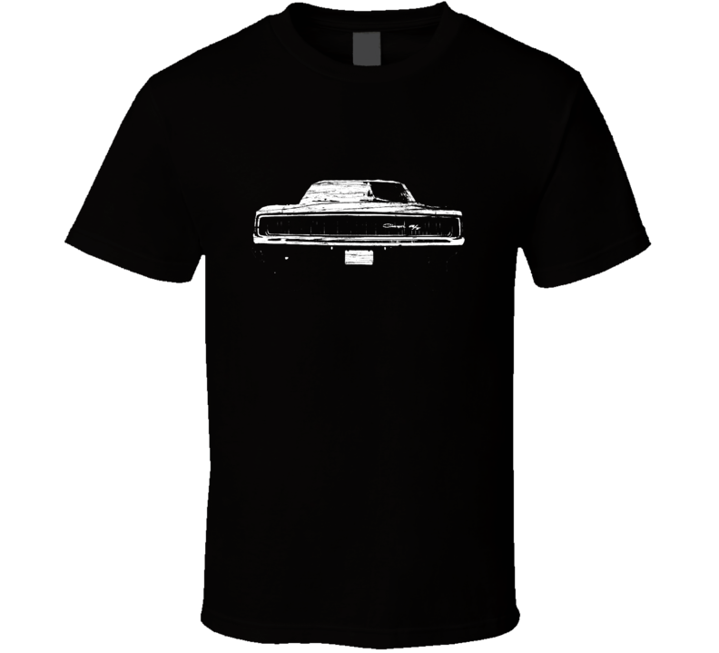 1968 Dodge Charger R/T Distressed Black T Shirt