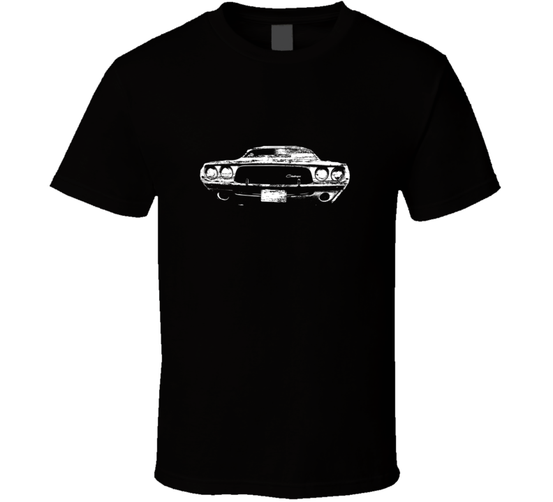 1972 Hemi Challenger Grill View Black Distressed T Shirt