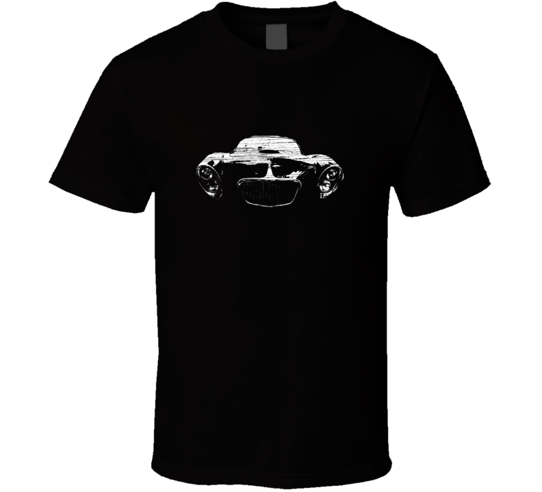 1953 Corvette Front View Distressed Black T Shirt