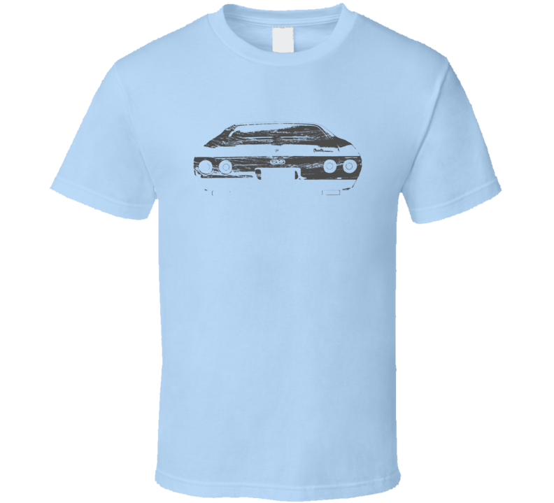 1972 Chevelle SS Rear View Distressed Light Blue T Shirt