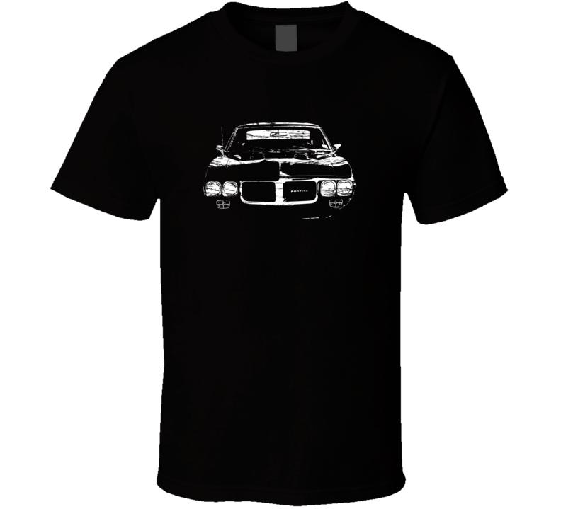 1967 Firebird Grill View Distressed Black T Shirt