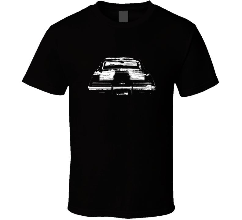 1969 Camaro SS/RS Back View Distressed Black T Shirt