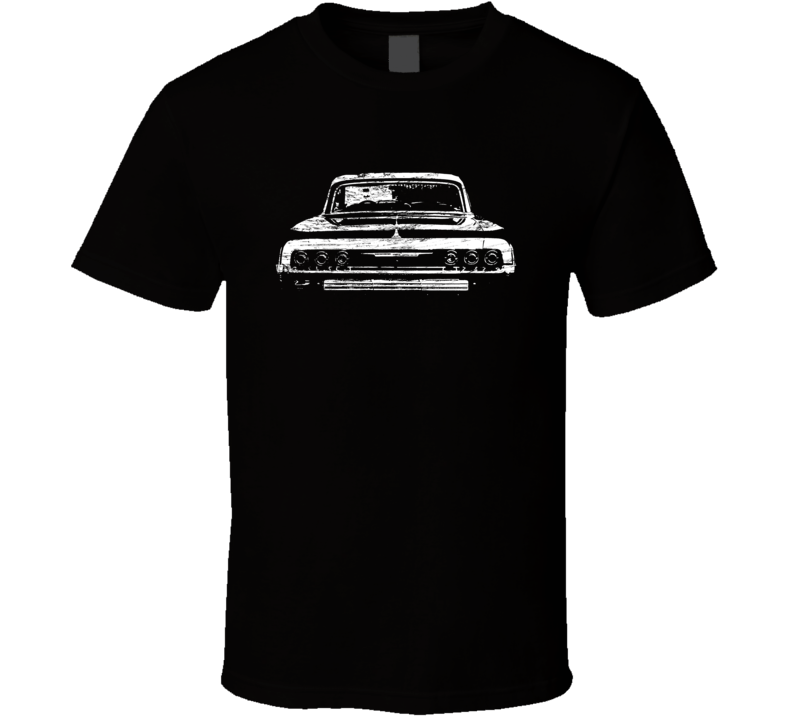 1964 Impala Rear View Distressed Faded Look Black T Shirt