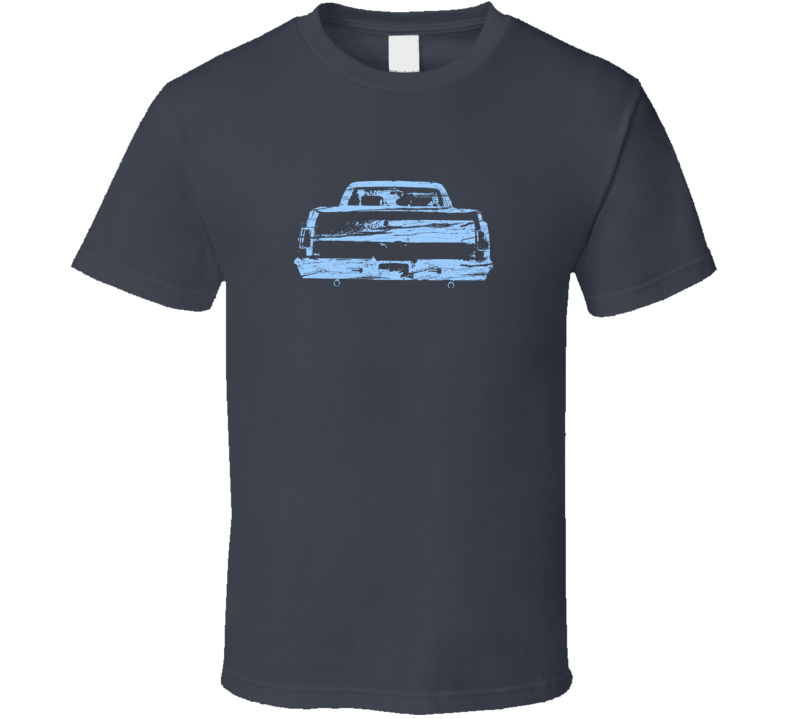 Light Blue 1965 El Camino on Charcoal T Shirt