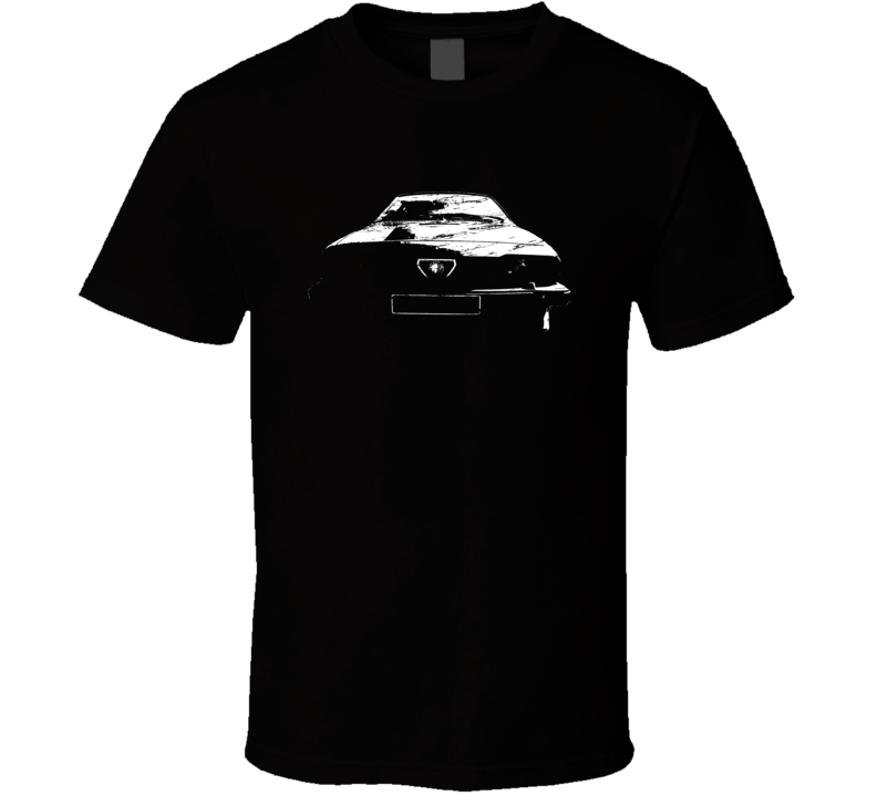 James Bond Octopussy Alpha Romeo GTV6 Coupe Distressed Faded Look Black T Shirt