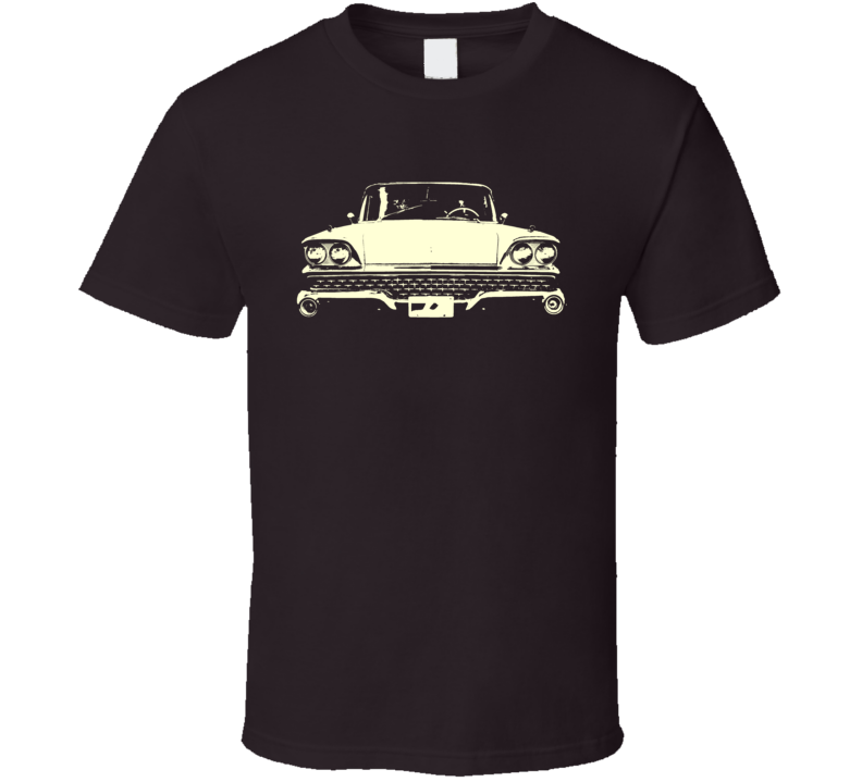 1959 Fairlane Grill View Faded Look Yellow Graphic Tee T Shirt