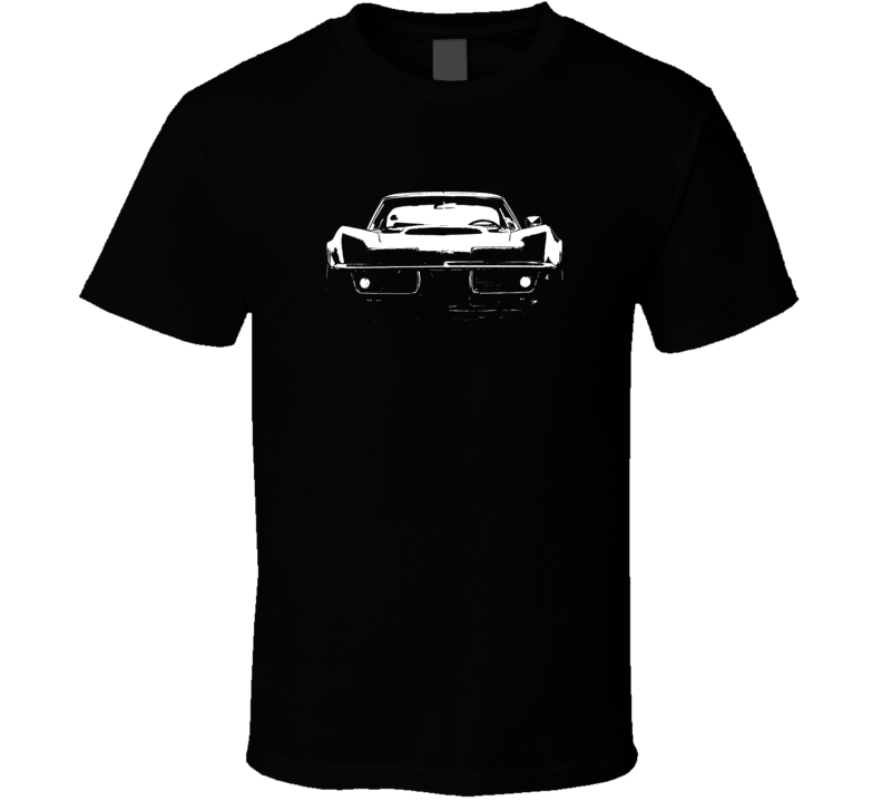 1969 Corvette Stingray Grill View Faded Look Dark T Shirt
