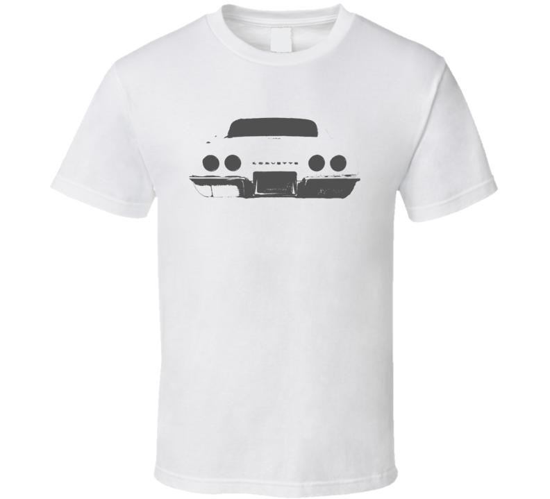 1969 Corvette Rear Veiw Faded Look Light T Shirt