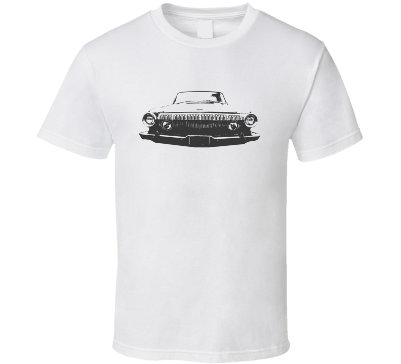 1963 Dodge Polara Grill View Faded Look White T Shirt
