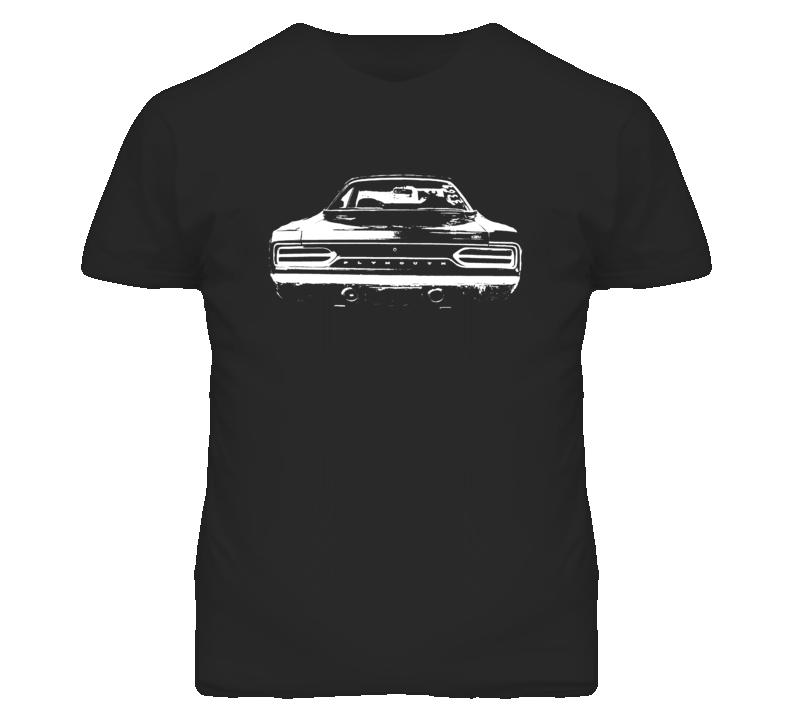 SNL Tommy Boy 1967 Belvedere GTX Rear View Faded Look Black T Shirt