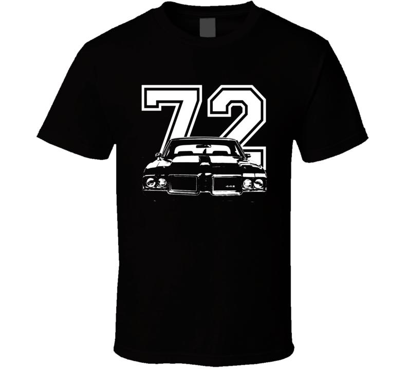 1972 Oldsmobile 442 Grill Year Dark Shirt