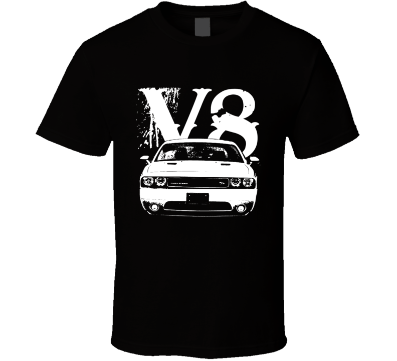 2012 Dodge Challenger Grill View V8 Dark Color Car Lover Shirt