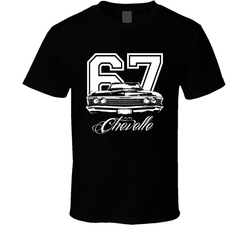 1967 Chevelle Convertible Grill View Year Model White Graphic Dark Shirt