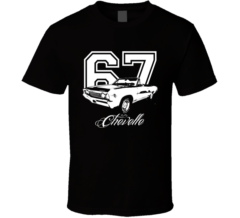 1967 Chevelle Convertible Side View Year Model Name Dark Color Shirt