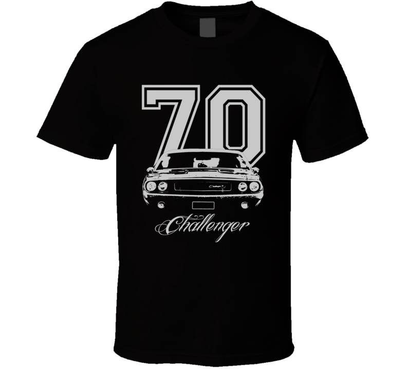 1970 Dodge Challenger Grill Year Model Name Dark Color Shirt