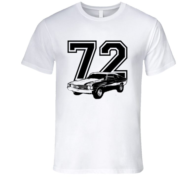 1972 Chevelle Fadded Look Side View Year Light Color Shirt