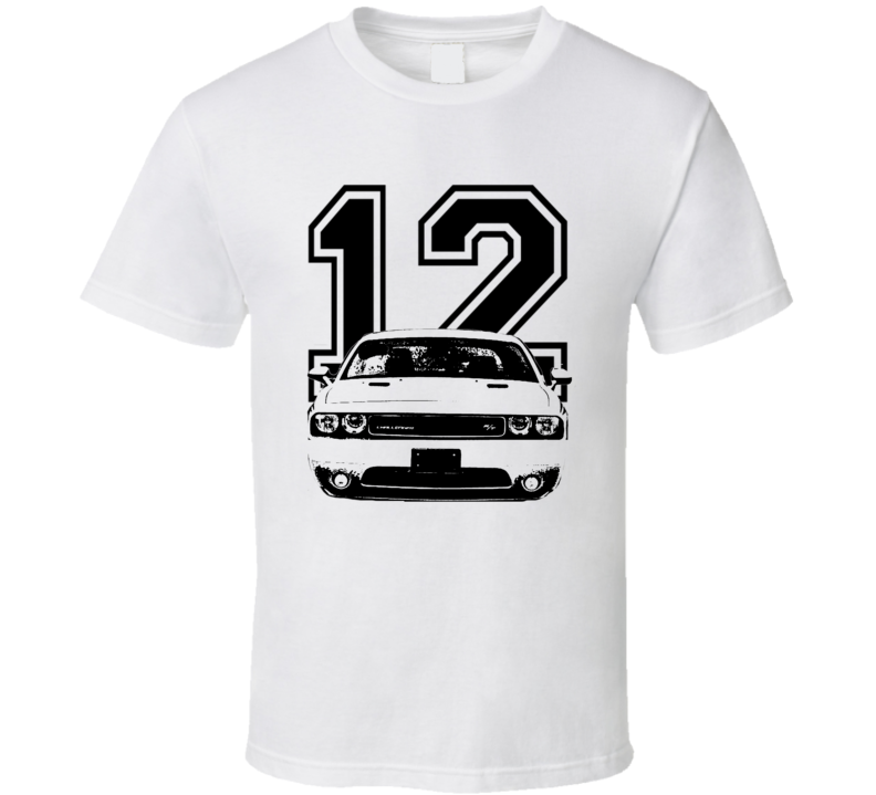 2012 Dodge Challenger Grill View Year Light Color Shirt