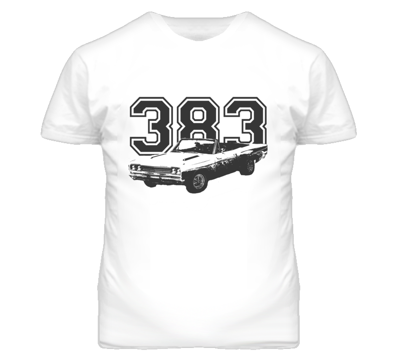 1968 Plymouth Road Runner With Engine Faded Look Black Graphic  Light T Shirt