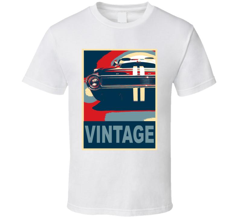 1965 Dodge Charger Vintage Car Hope Style T Shirt