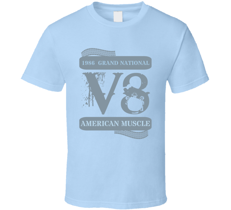 1986  Grand National American Muscle Car Stencil Faded T Shirt