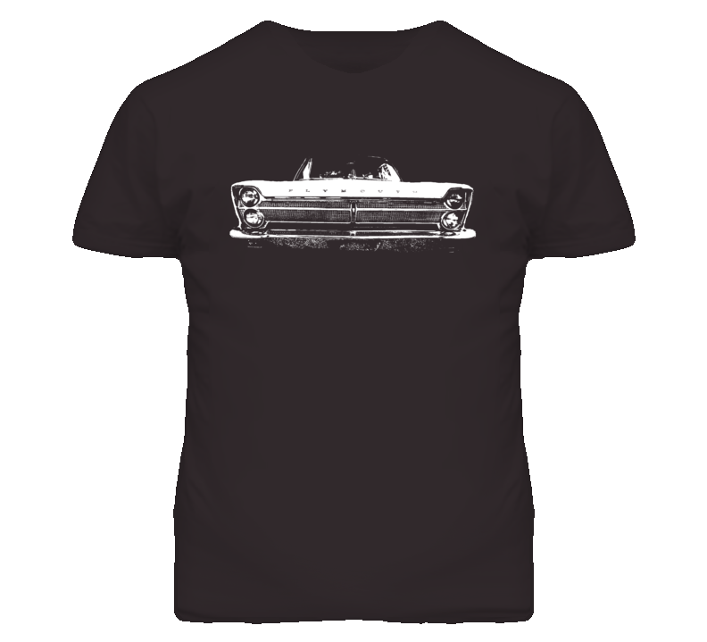 1965 Plymouth Fury Grill View Faded Look Dark T Shirt