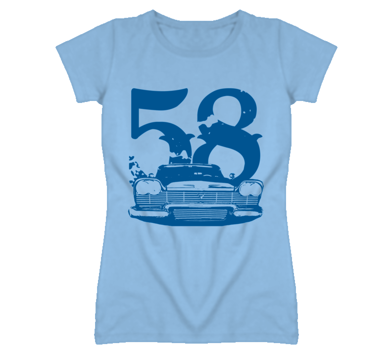 1958 Plymouth Fury Blue Grill and Year Christine T Shirt