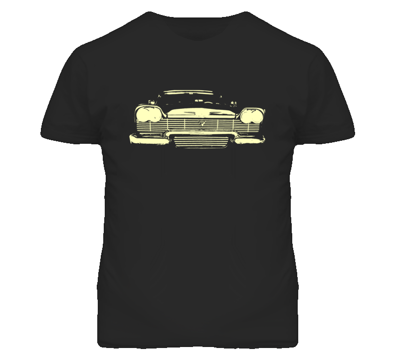 1958 Plymouth Fury Grill Faded Look Christine Movie T Shirt