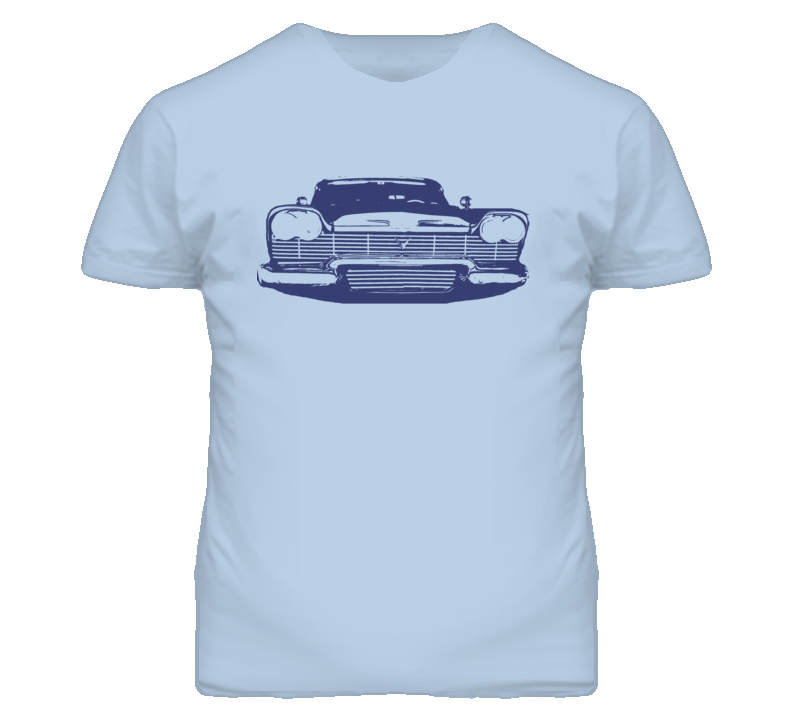 58 Plymouth Fury Grill View Faded Graphic T Shirt