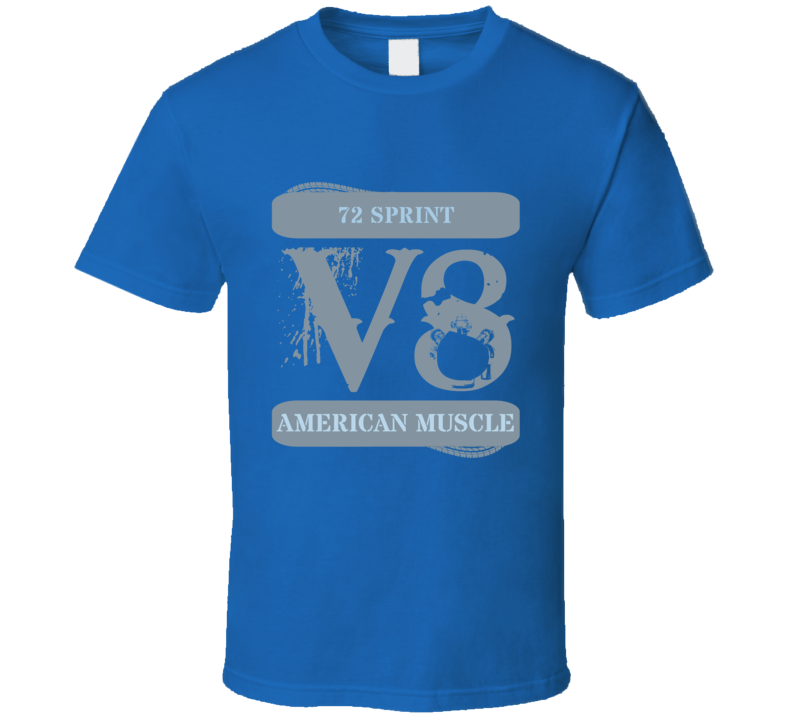 1972 Gmc Sprint Muscle Car V8 Faded T Shirt