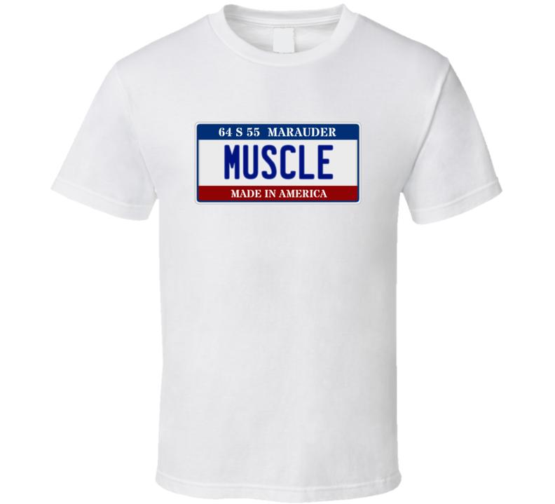 1964 Mercury Marauder Muscle Car License Plate T Shirt