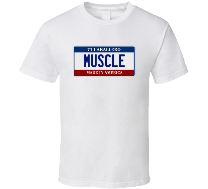 1978 GMC Caballero Muscle Car License Plate T Shirt