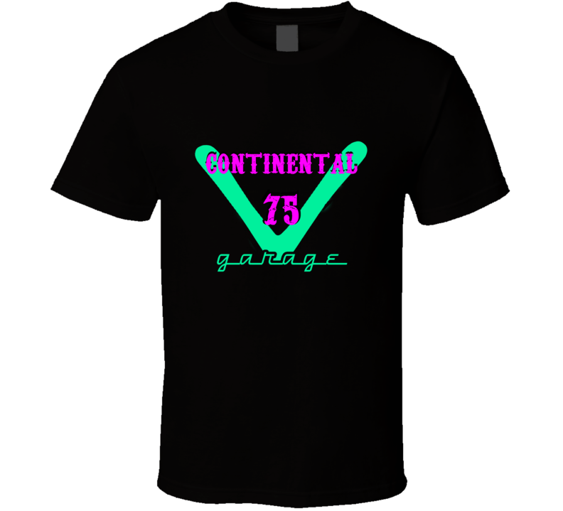 1975 Lincoln Continental Garage Neon Sign Style T Shirt