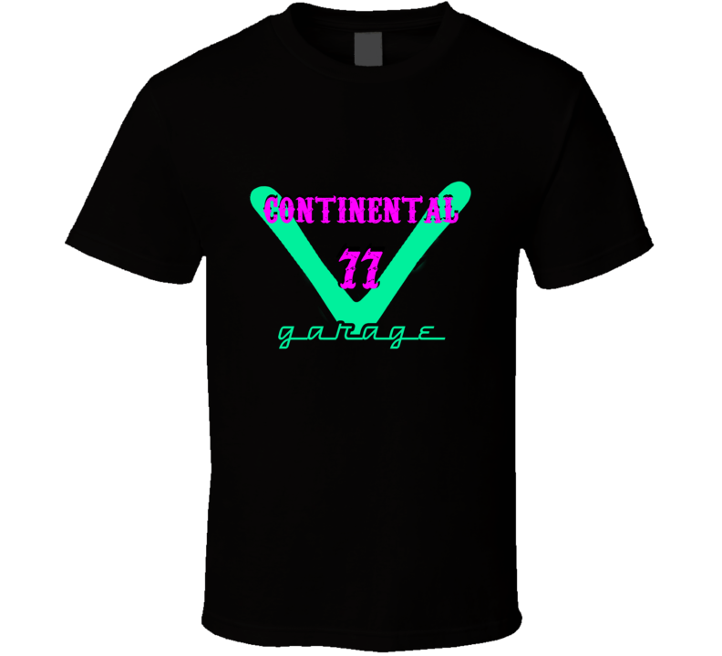1977 Lincoln Continental Garage Neon Sign Style T Shirt