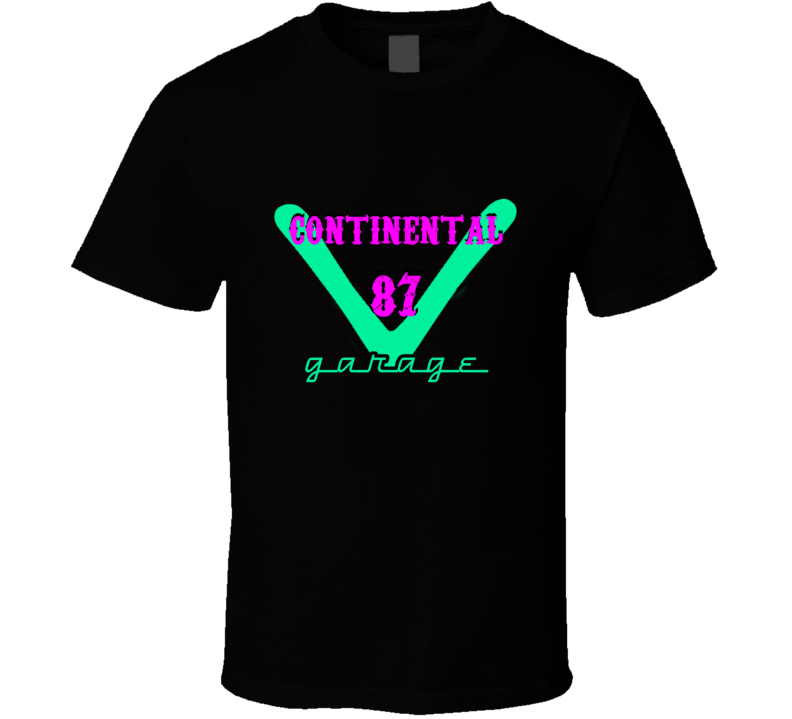 1987 Lincoln Continental Garage Neon Sign Style T Shirt