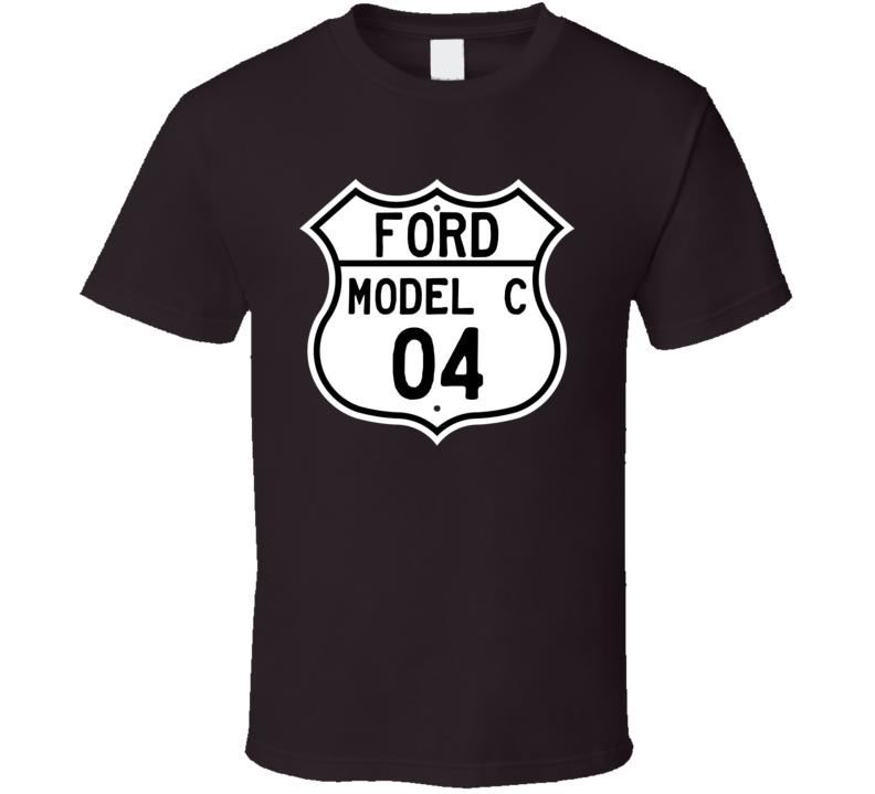1904 Model C Custom Highway Route Sign T Shirt